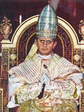 Pope Paul VI at His Coronation in St. Peter's, Rome, on June 30, 1963