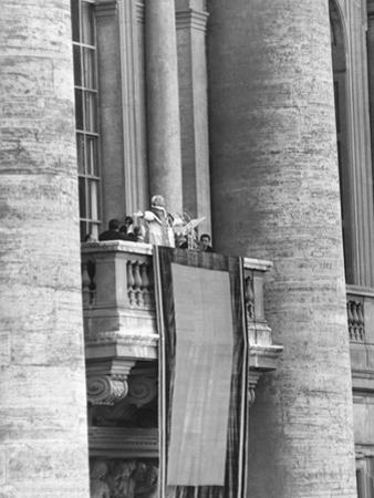 Pope Pius XII Addressed a Crowd of 150,000 from the Balcony of St. Peter's Basilica