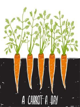 Growing Carrots Scratchy Drawing and Lettering. Raster Variant. by Popmarleo