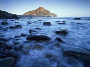 Landscape Gaztelugatxe Coast, Basque Country, Bay of Biscay, Spain, October 2008 by Popp-Hackner
