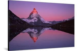 Matterhorn (4,478M) with Reflection in Lake Riffel at Sunrise, Switzerland, September 2008 by Popp-Hackner