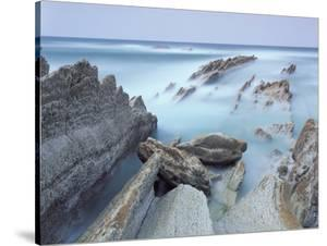 Rock Formations on Atxabiribil Beach, Basque Country, Bay of Biscay, Spain, October 2008 by Popp-Hackner