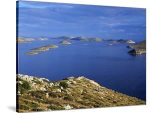 View from Levrnaka Island to the South, Kornati National Park, Croatia, May 2009 by Popp-Hackner