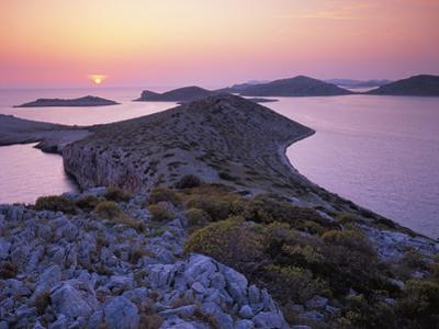 View from Mana Island at Sunset, Kornati National Park, Croatia, May 2009 by Popp-Hackner