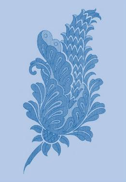 Porcelain Blue Motif IV