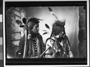 Port of Pair of Native American Indians from Southeastern Id Reservation, Wearing Tribal Vestments