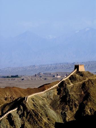 Beginning of the Great Wall, UNESCO World Heritage Site, Jiayuguan, Gansu, China