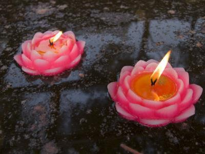 Candle Floating in Dafo Temple, Leshan, Sichuan, China