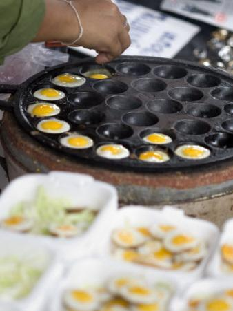 Cooking Quail Eggs, Chatuchak Weekend Market, Bangkok, Thailand, Southeast Asia