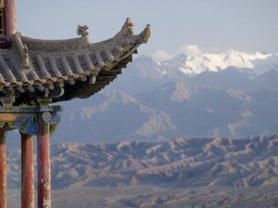 Decoration on 600 Year Old Tower, Jiayuguan Fort, Jiayuguan, Gansu, China