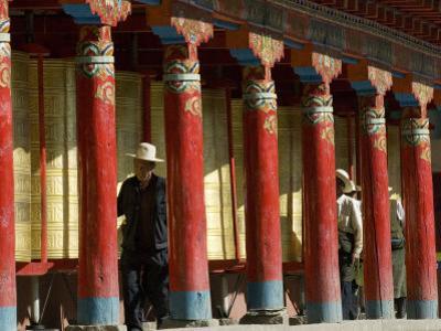 Old Men Turning Prayer Wheels, Tagong Temple, Tagong, Sichuan, China