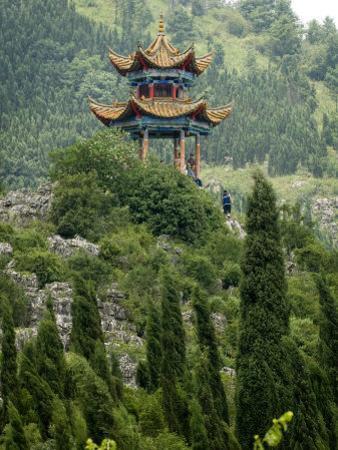 Pagoda on Hillside Outside Kunming, Kunming, Yunnan, China