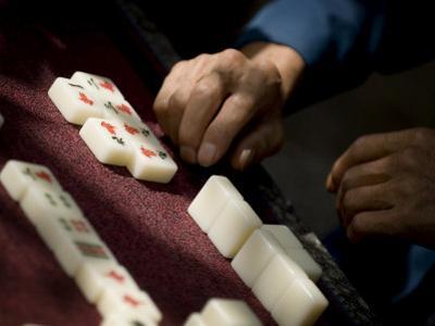 Playing Mahjong, Dali, Yunnan, China