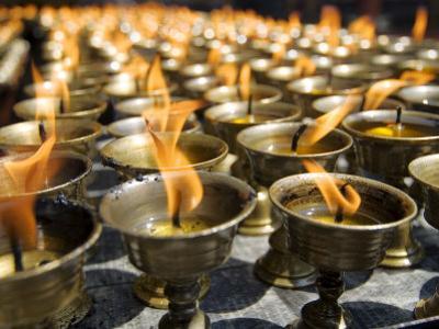 Prayer Candles, Nanwu Temple, Kangding, Sichuan, China