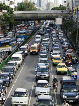 Traffic, Bangkok, Thailand, Southeast Asia