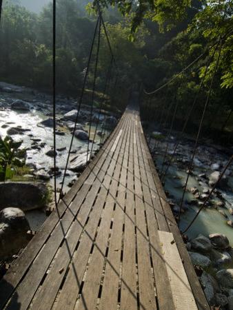 Wooden Bridge over River, Ranong, Thailand, Southeast Asia