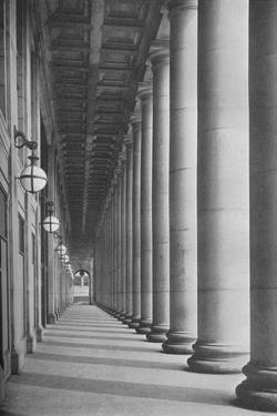 Portico facing Canal Street, Chicago Union Station, Illinois, 1926