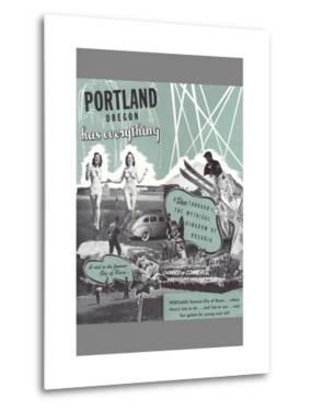 Portland Has Everything, Oregon Travel Poster