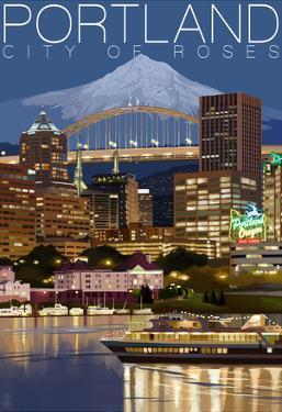 Portland, Oregon - Skyline at Night