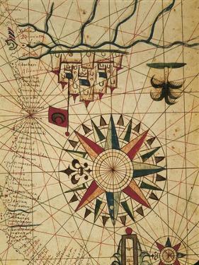 Portolan Chart, Map of Cairo, Egypt