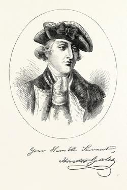 Portrait and Autograph of General Horatio Gates