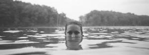 Portrait of a Woman's Face in Water