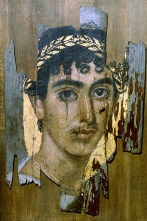 Portrait of a Youth in a Gold Wreath, Fayum Mummy Portrait, Romano-Egyptian, Early 2nd Century