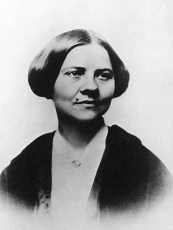 Portrait of American Abolitionist and Women's Rights Activist Lucy Stone