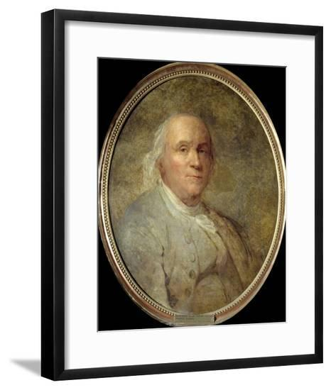 Portrait of Benjamin Franklin - by Joseph Siffred Duplessis--Framed Giclee Print