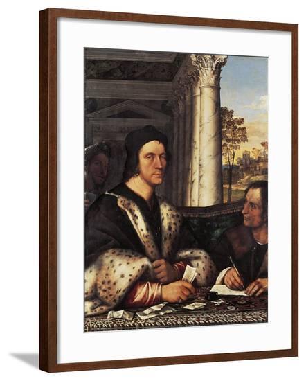 Portrait of Cardinal Ferry Carondelet with the Secretary, 1512-Sebastiano del Piombo-Framed Giclee Print