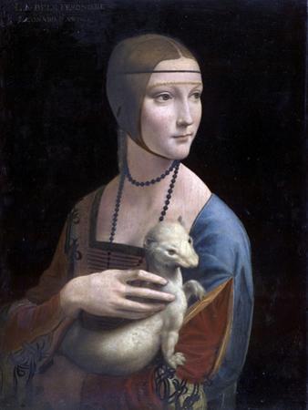 Portrait of Cecilia Gallerani (Lady with the Ermine) by Leonardo Da Vinci