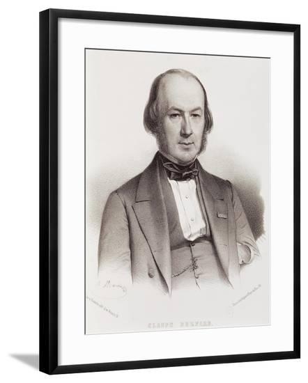 Portrait of Claude Bernard--Framed Giclee Print