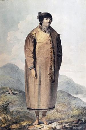 Portrait of Eskimo Woman, Engraving from Description of Captain James Cook's Last Voyage