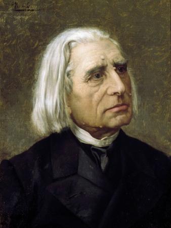 Portrait of Franz Liszt by Giuseppe Tivoli