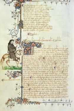 Portrait of Geoffrey Chaucer (C.1342-1400) Detail from the Canterbury Tales