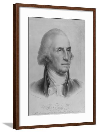 Portrait of George Washington--Framed Giclee Print