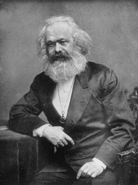 Portrait of German-Born Political Economist and Socialist Karl Marx, 1818-1883