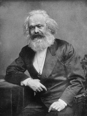 Portrait of German-Born Political Economist and Socialist Karl Marx, 1818-1883