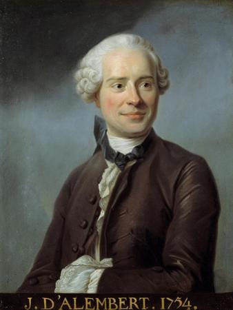 Portrait of Jean Le Rond D'alembert after Quentin De La Tour