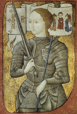 Portrait of Joan of Arc, Ca. 1430. from Charles D'Orleans' Poesy. French Miniature Painting