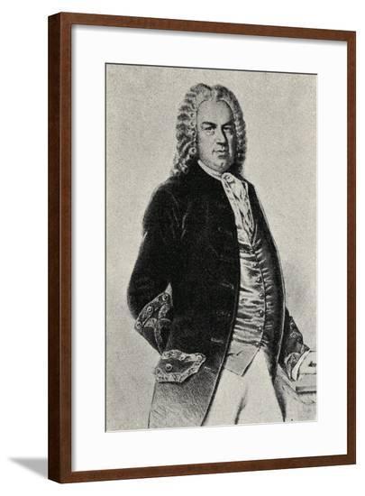 Portrait of Johann Sebastian Bach--Framed Giclee Print