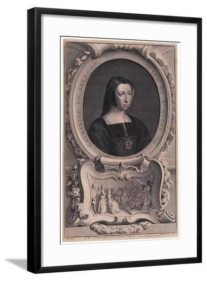 Portrait of Katherine of Aragon, after Arthur Pond-Jacobus Houbracken-Framed Giclee Print