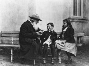 Portrait of Lev Nikolaevich Tolstoy with His Grandchildren