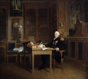 Portrait of Louis XVIII at His Desk in the Tuileries by Francois Gerard