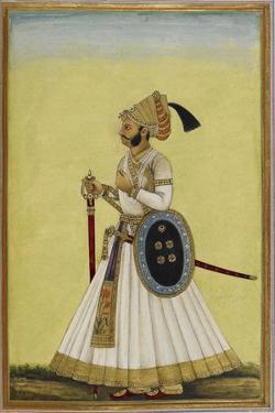 Portrait Of Maharaja Ratan Singh Of Bikaner (R.1831-1852)