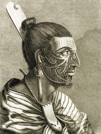 Portrait of Maori Man with Moko