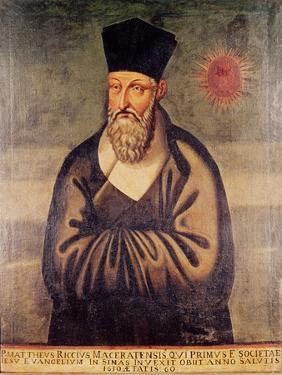 Portrait of Matteo Ricci (1552-1610) Italian Missionary, Founder of the Jesuit Mission in China