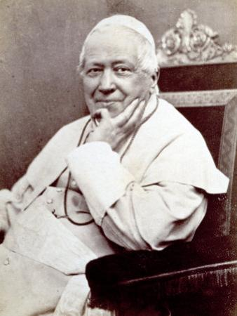 Portrait of Pope Pius Ix, Seated. He is Wearing a White Cassock