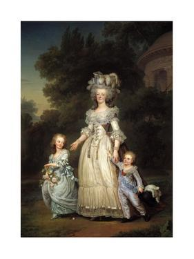 Portrait of Queen Marie Antoinette of France with Her Children by Adolf Ulrich Wertmuller