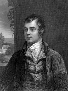 Portrait of Robert Burns, Scottish Poet